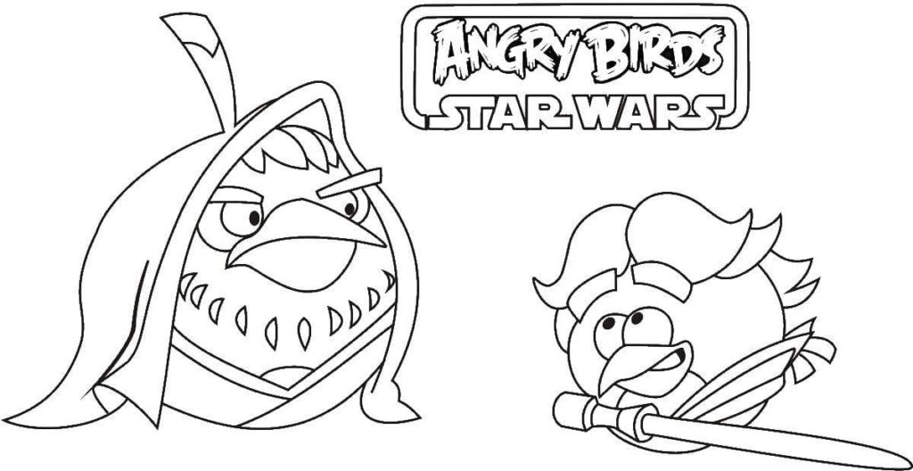 Angry Birds Star Wars 01 Coloring Page | Coloring Page Central | 528x1024