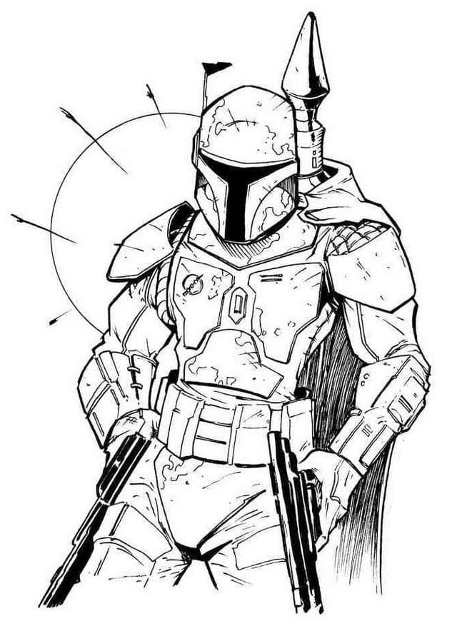 Lego Star Wars Boba Fett Coloring Pages Printable | 877x640
