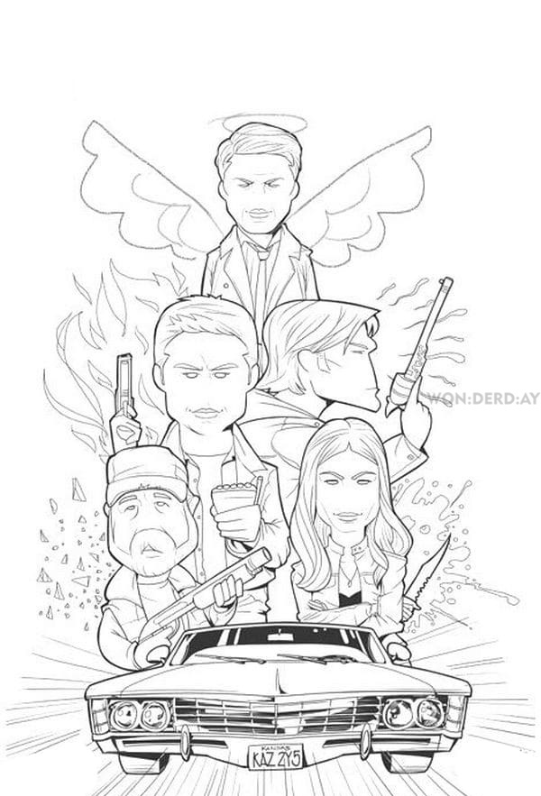 Coloring Pages Supernatural Best