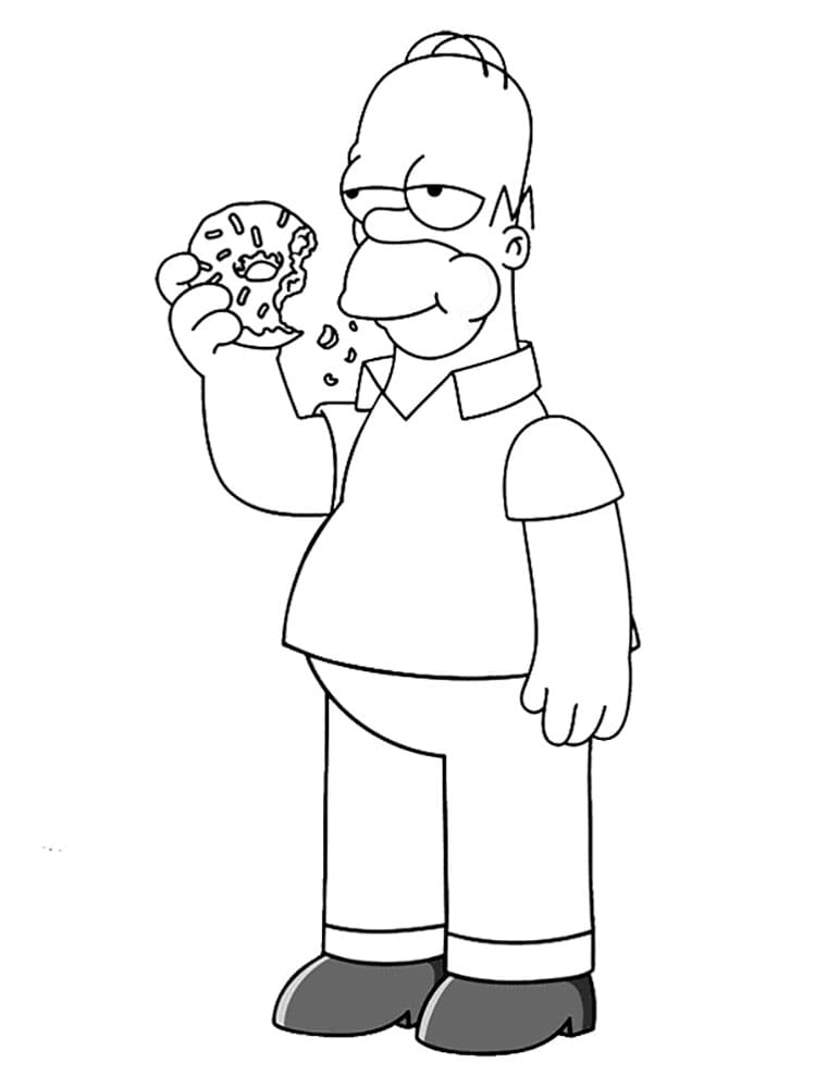 The Simpsons Coloring Pages. 100 Free Images for Printing