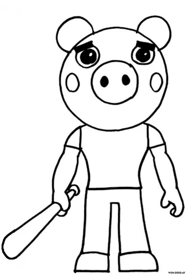 Free Printable Piggy Roblox Coloring Pages