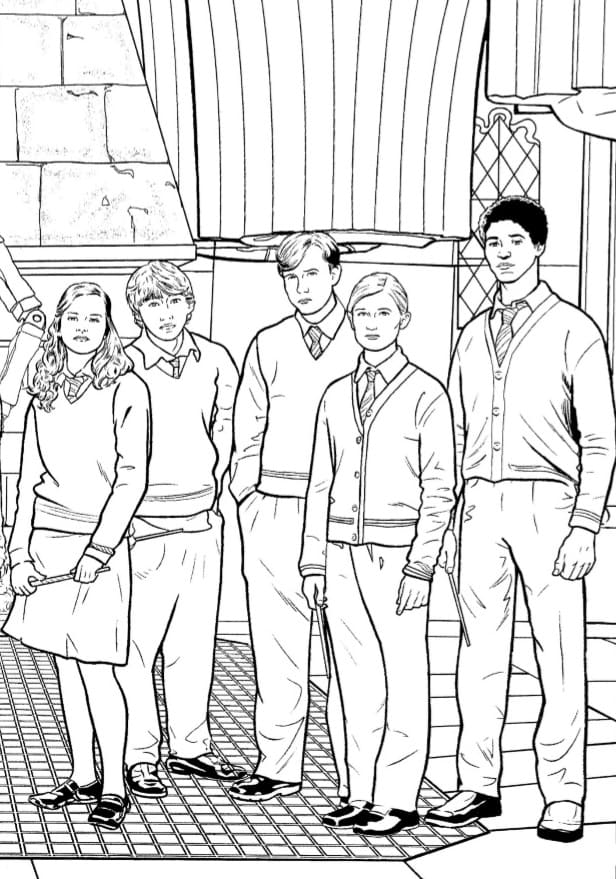 Harry Potter Coloring Pages Ginny And Harry