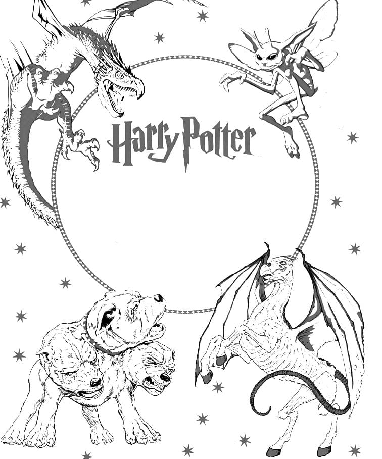 Coloring Pages Harry Potter 150 Pieces Print A4 Wonder Day