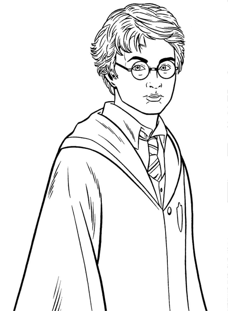 Coloriage Harry Potter (150 pièces). Imprimer A4 | WONDER DAY