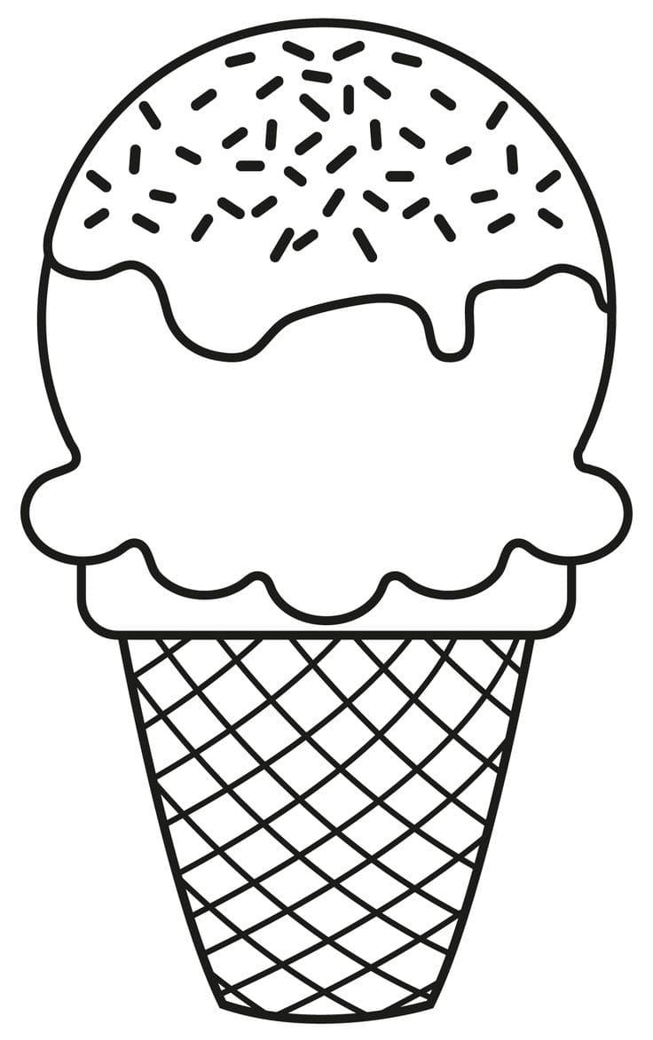 Ausmalbilder Eis (90 Stück). Kostenlos herunterladen und ...