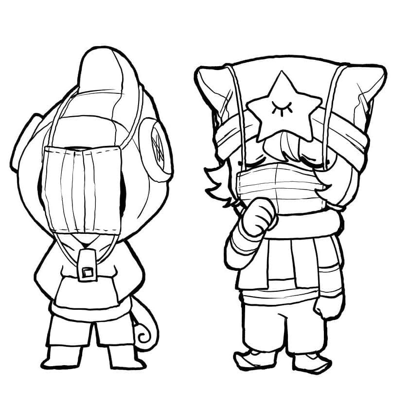 Leon Brawl Stars Coloring Pages Print For Free Wonder Day