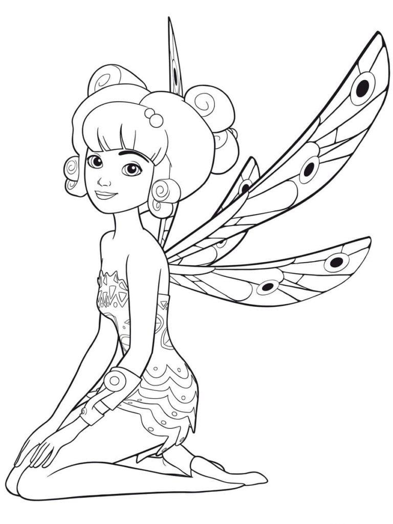 dibujos para colorear mia and me imprime gratis para niños
