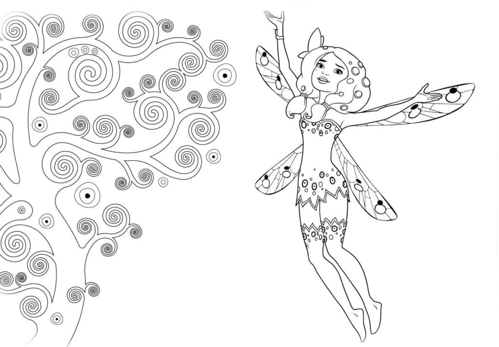 Coloring pages Mia and Me. Download and Print for Free