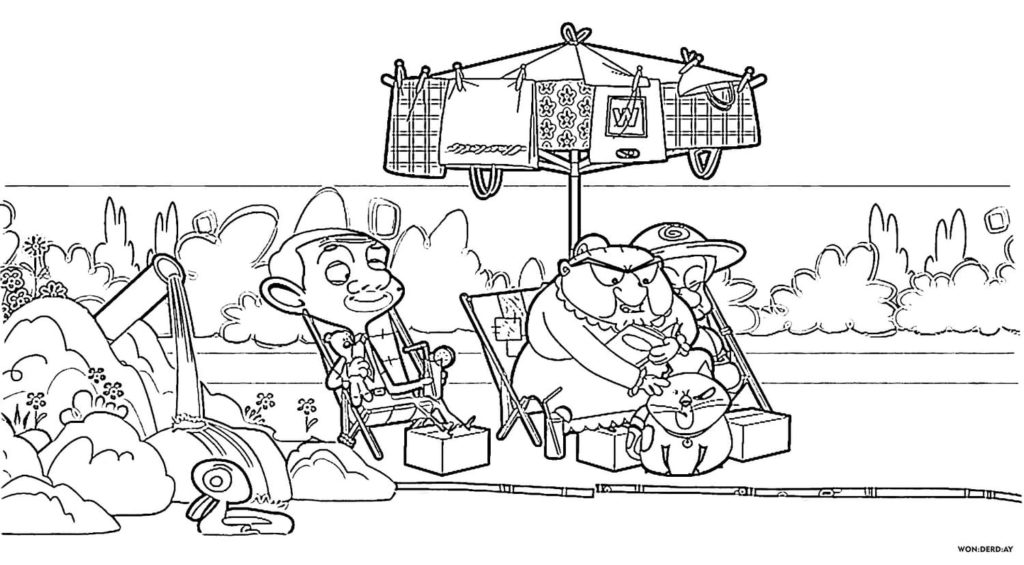 Mr Bean Coloring Pages. Print For Free (50 pieces)