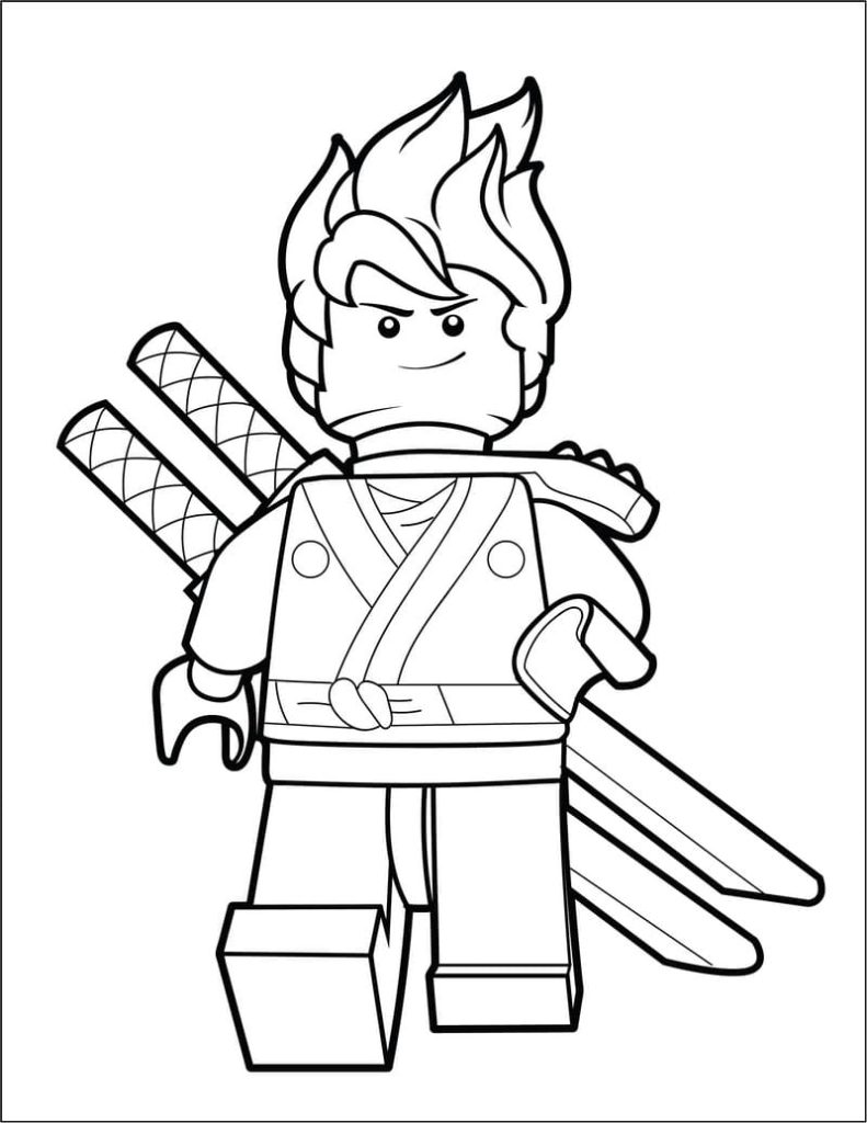 LEGO Ninjago Coloring Pages (100 Pieces). Print for Free A4