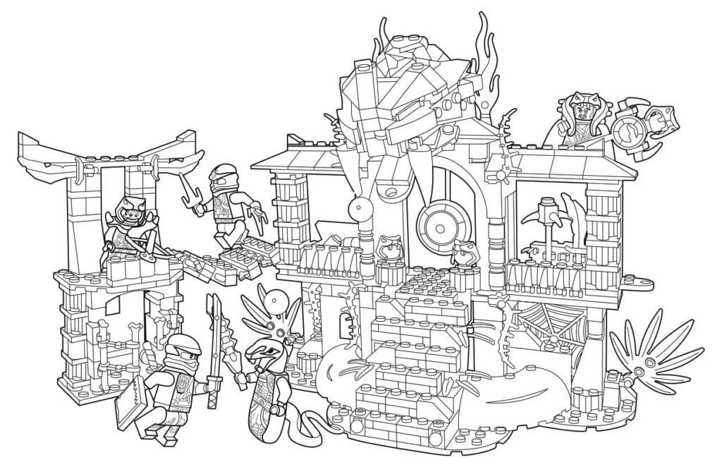 Раскраски Лего Ниндзяго (100 шт). Распечатать бесплатно А4