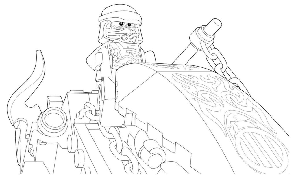 Ausmalbilder Lego Ninjago 100 Stuck Kostenlos Drucken A4