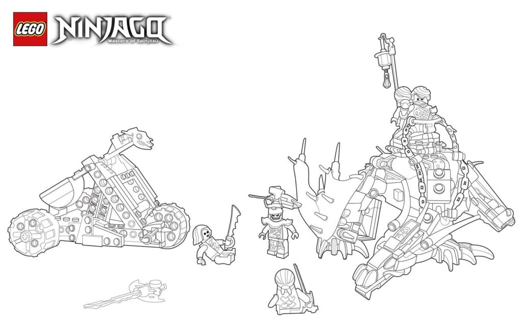lego ninjago coloring pages 100 pieces print for free a4