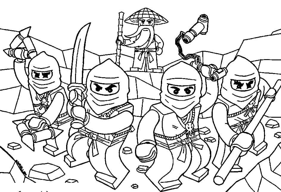 ausmalbilder lego ninjago (100 stück). kostenlos drucken a4