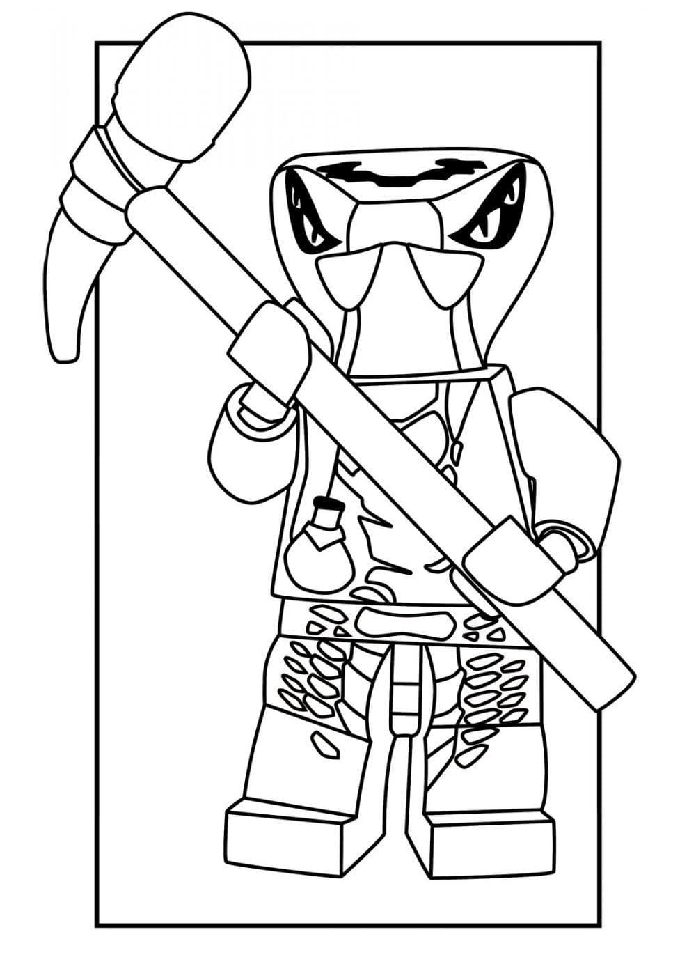 ausmalbilder lego ninjago 100 stück kostenlos drucken a4