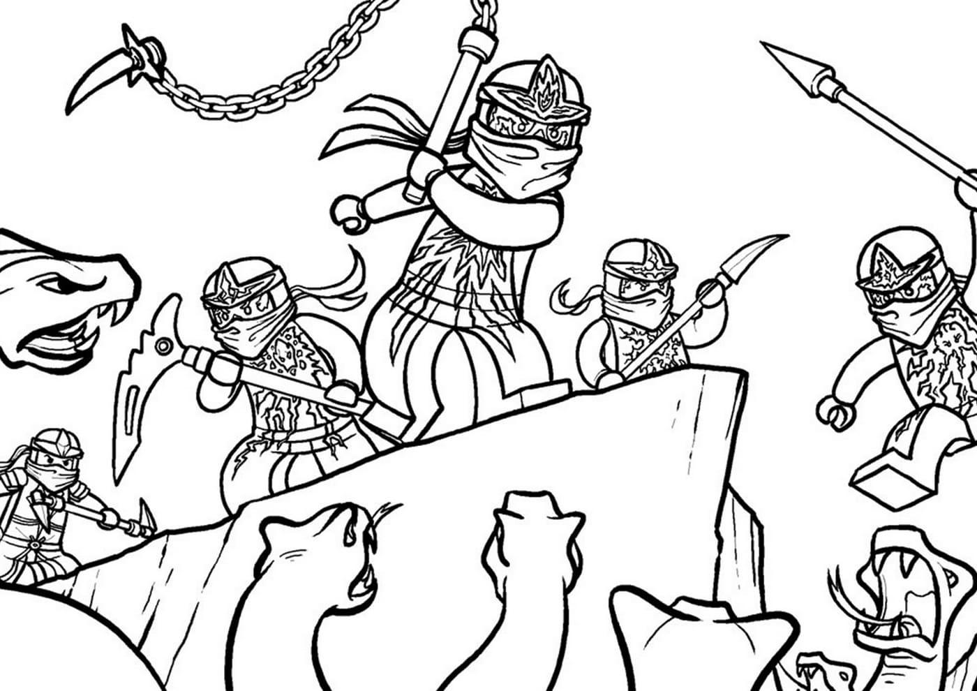 lego ninjago ausmalbilder schlangen samurai  28 images