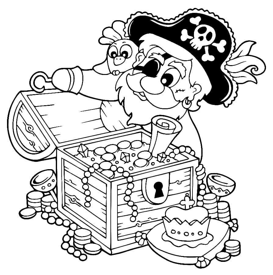 Ausmalbilder Piraten (26 Stück). Kostenlos drucken
