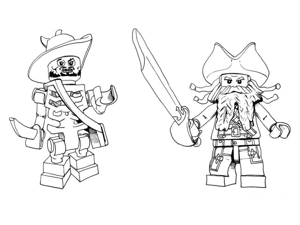 Ausmalbilder Piraten (6 Stück). Kostenlos drucken