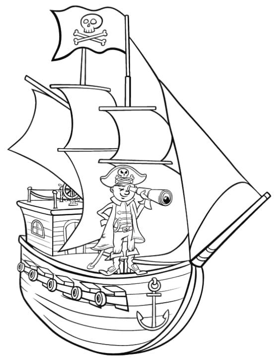Disegni Di Pirati Da Colorare 100 Pezzi Stampa Gratis
