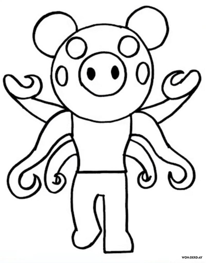 Zombie Roblox Pony Piggy Coloring Pages Roblox Piggy Adopt Me And Others Print For Free