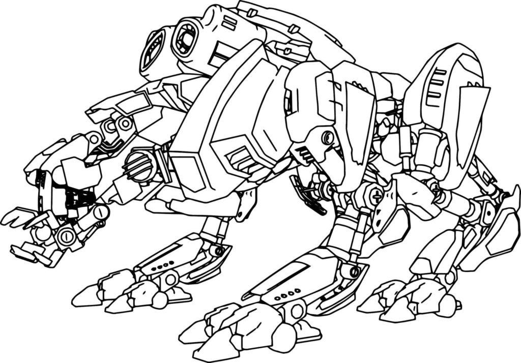 Раскраски Роботы. Распечатайте Мега крутую коллекцию А4