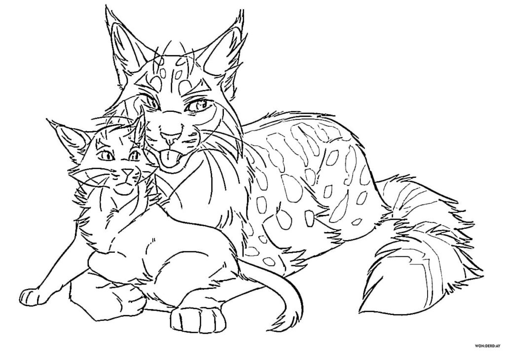 Warriors Cats Coloring pages. 90 Free printable Coloring Pages