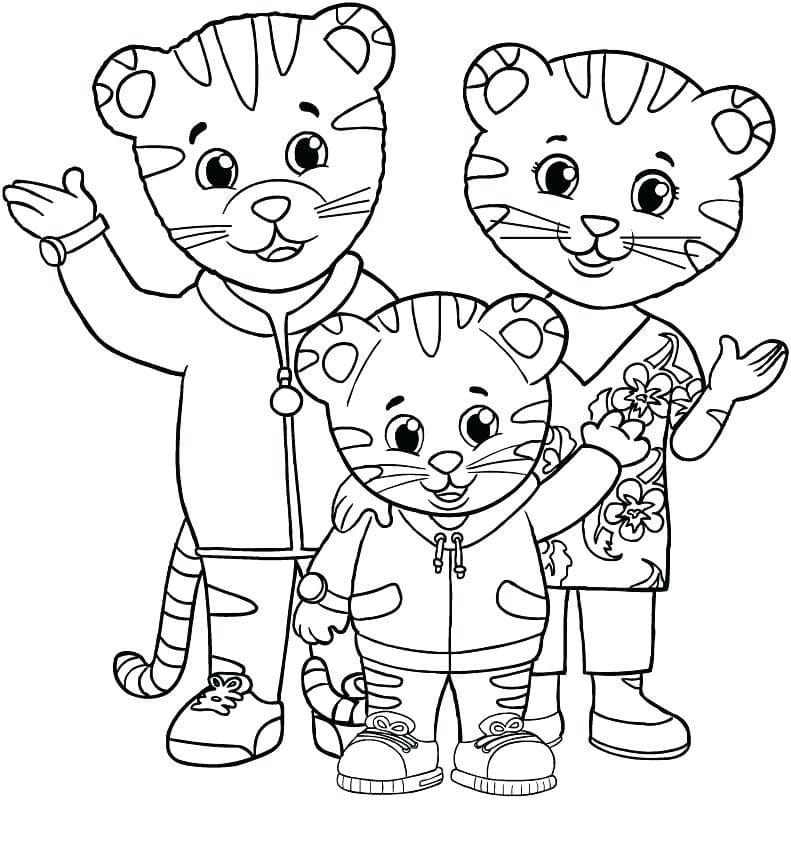 Coloriages Dany Le Tigre Imprimer Le Village De Dany