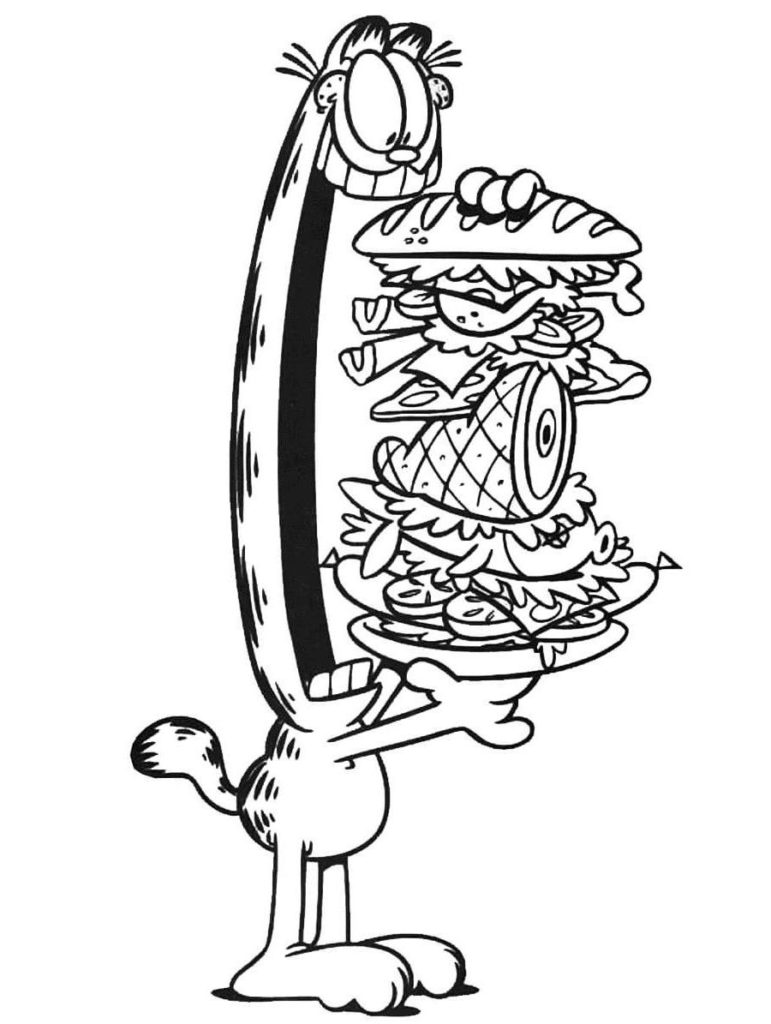Garfield Coloring Pages. Print for Kids for Free