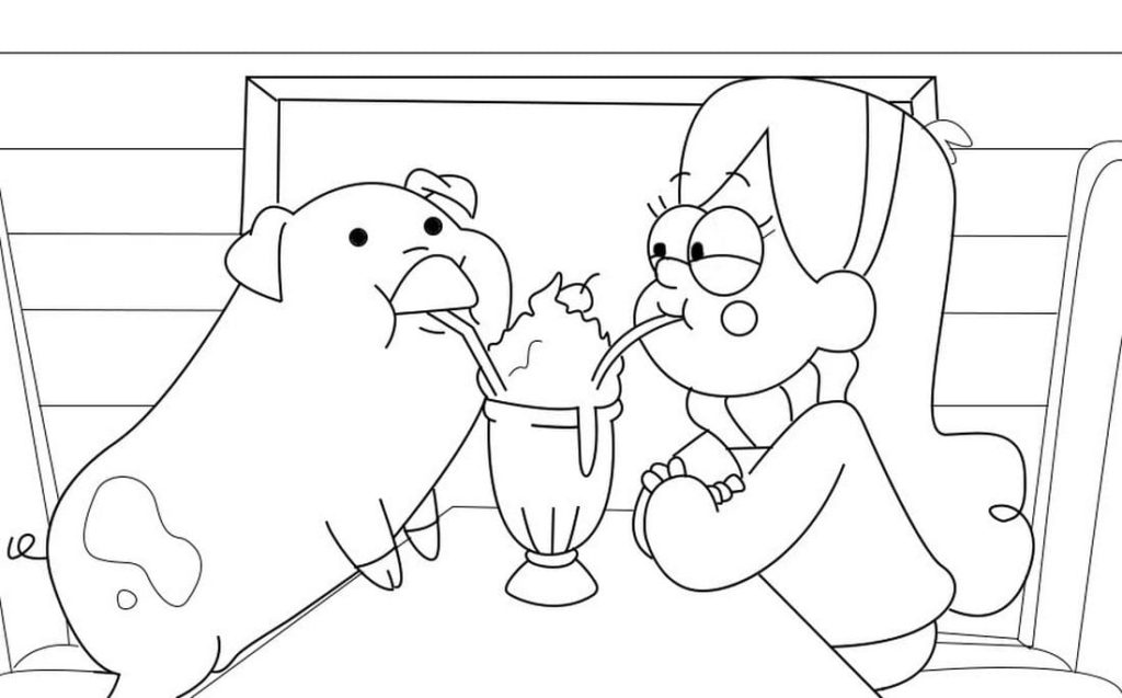 - Gravity Falls Coloring Pages (100 Pieces). Print For Free