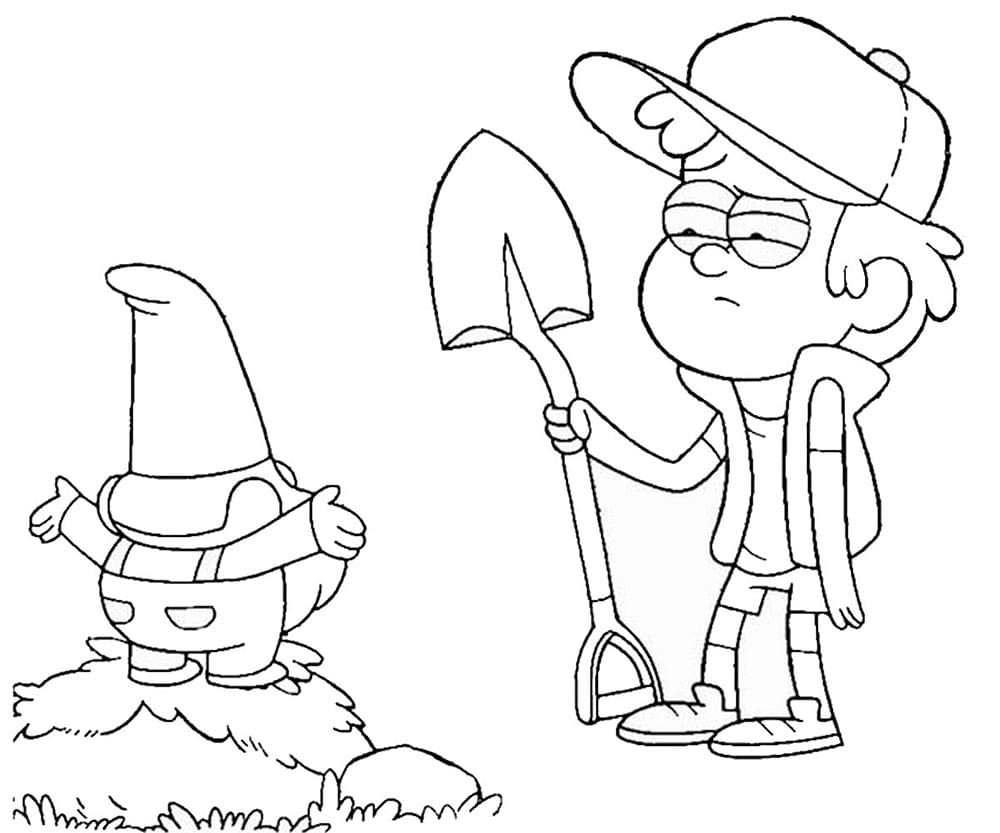 Gravity Falls coloring pages (100 Pieces). Print for free