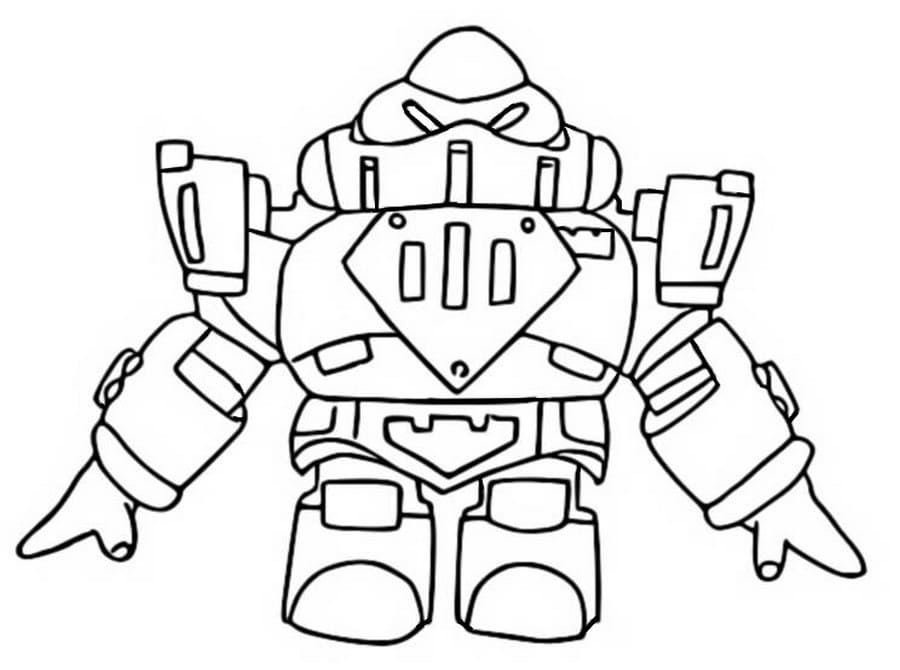 Coloring Pages Surge Brawl Stars. Download and Print for Free
