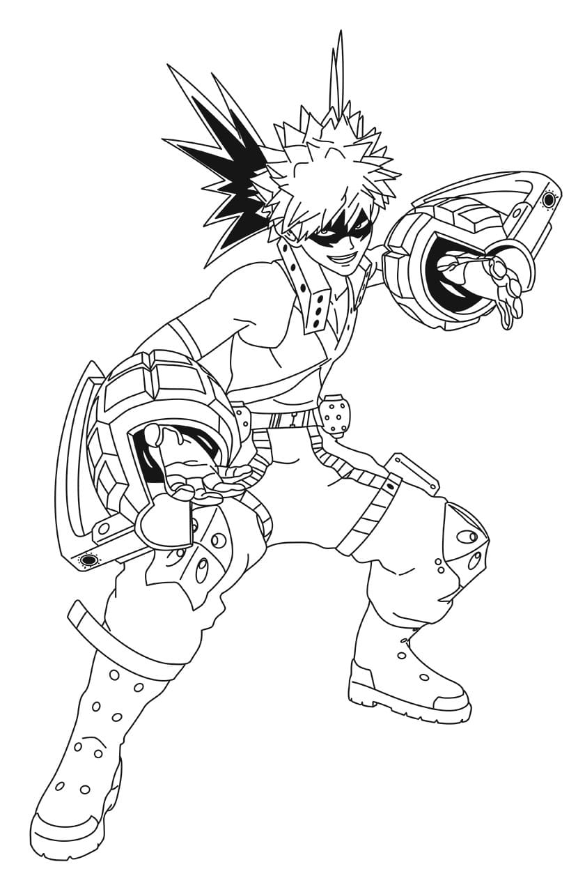 My Hero Academia Coloring Pages. Print for Free | WONDER DAY