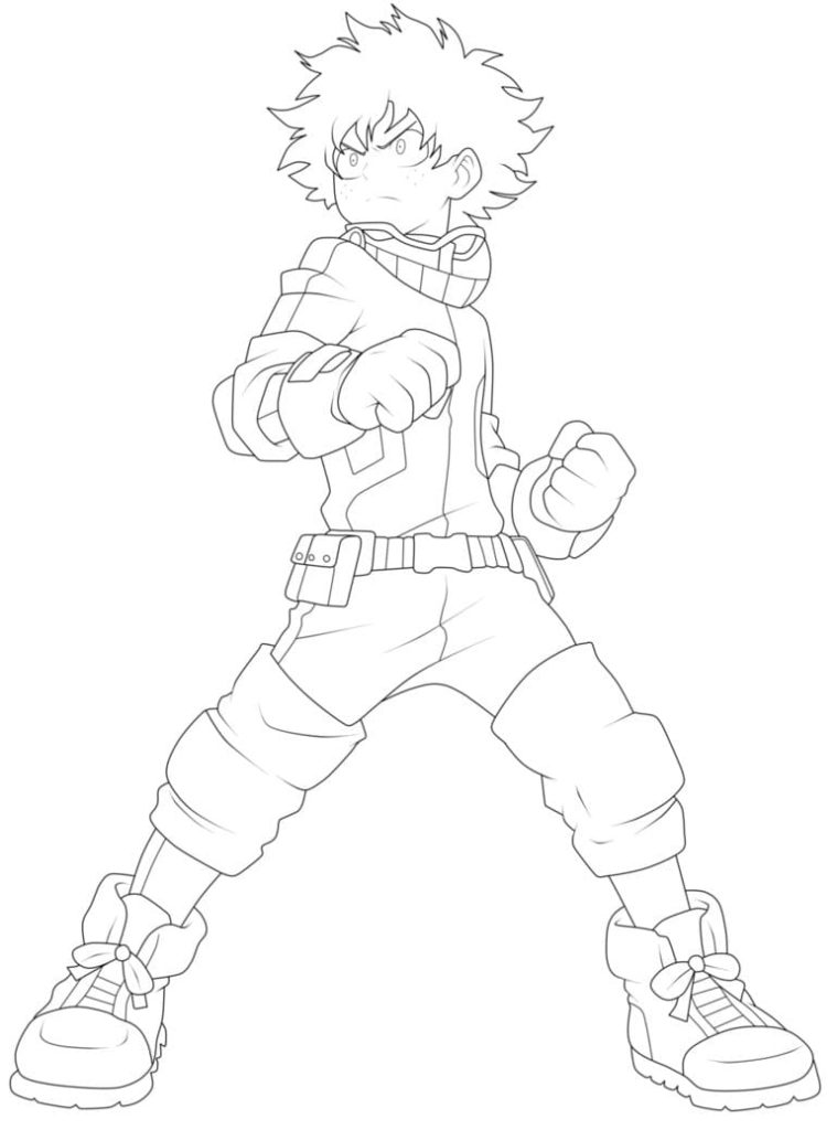 My Hero Academia Coloring Pages. 100 Free Coloring Pages