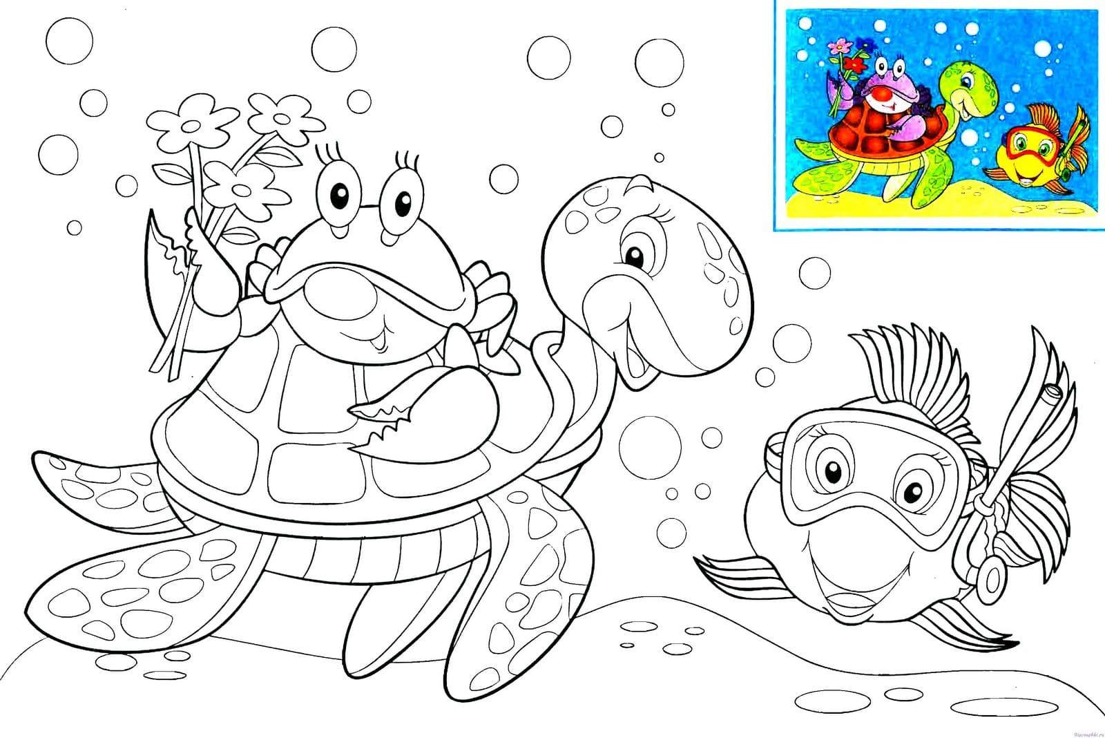kostenlose ausmalbilder unterwasserwelt — meerestiere für
