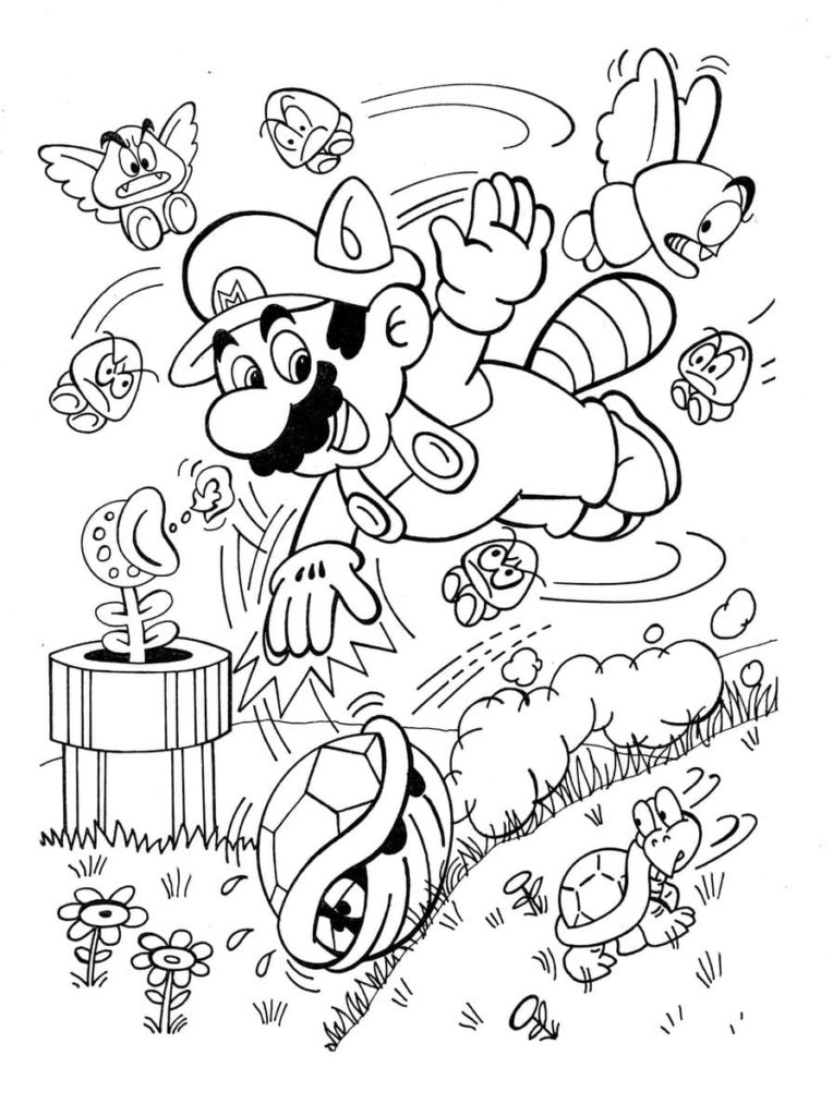 100 Coloring Pages Mario For Free Print Mario And Luigi Coloring Pages