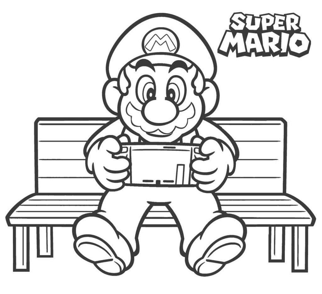 6 Ausmalbilder Mario zum kostenlosen Ausdrucken