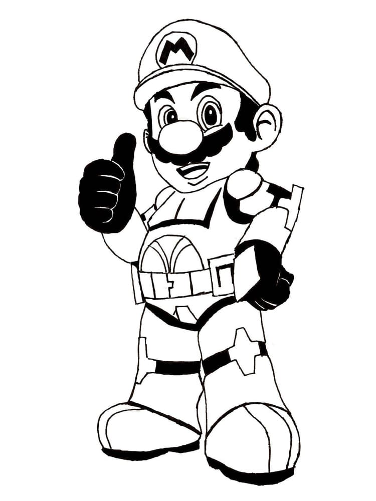 100 Coloring Pages Mario For Free Print Mario And Luigi Coloring