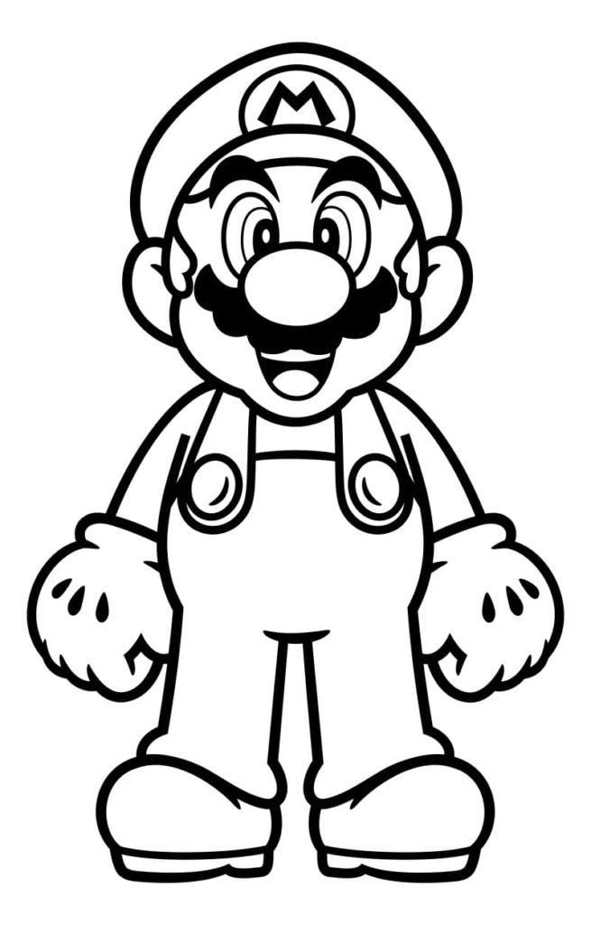 100 Coloring Pages Mario for Free Print | Mario and Luigi ...