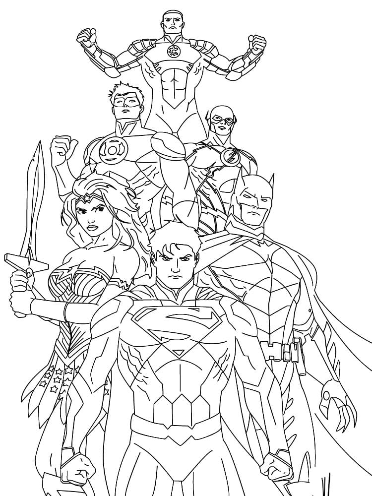 Coloriage Super Heros Collection En Gros Caracteres