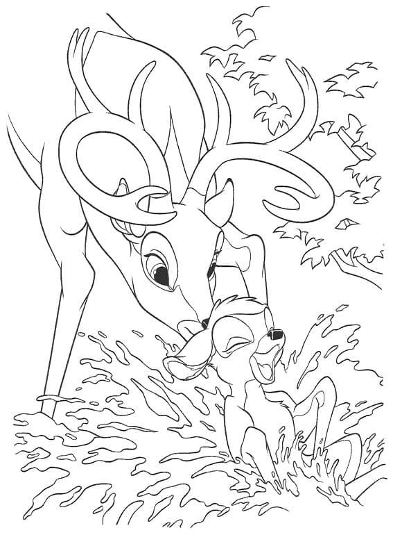 ausmalbilder bambi kostenlose malvorlagen für kinder