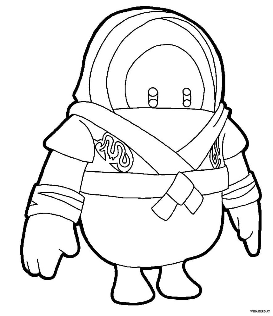 Fall Guys Coloring Pages. Print for Free