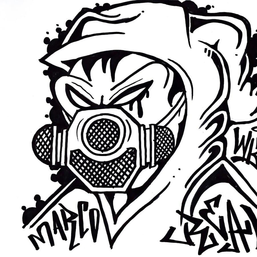 Ausmalbilder Graffiti. Beste Ausmalbilder zum Drucken