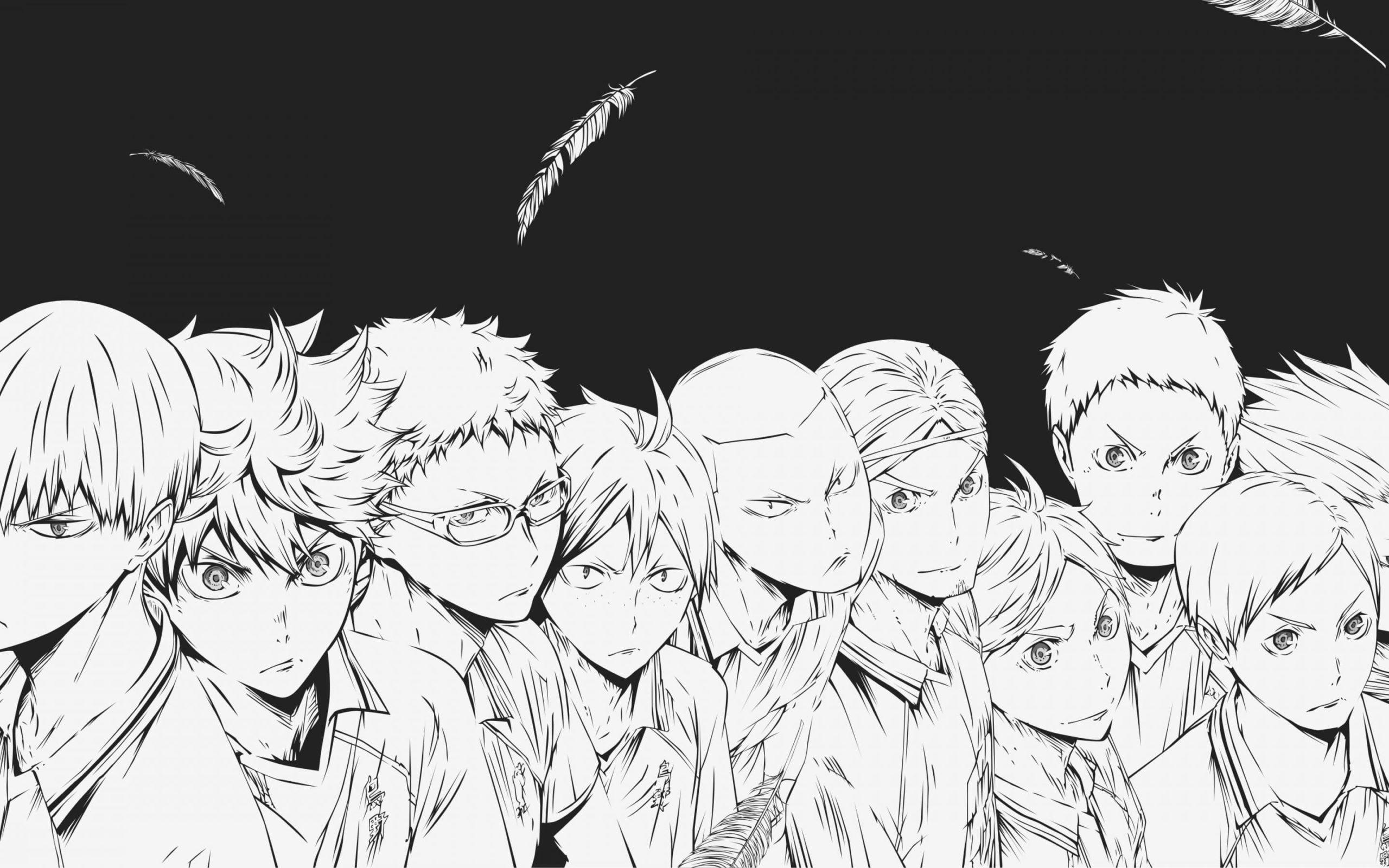 ausmalbilder anime haikyuu  kostenlos drucken  wonder
