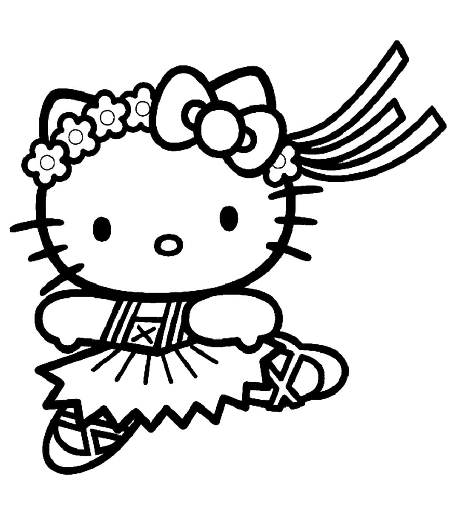 Раскраски Хелло Китти (Hello Kitty). 100 Бесплатных раскрасок