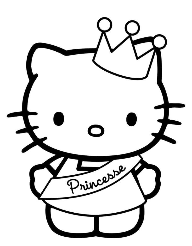 Dibujos de Hello Kitty para colorear. Imprime gratis 100