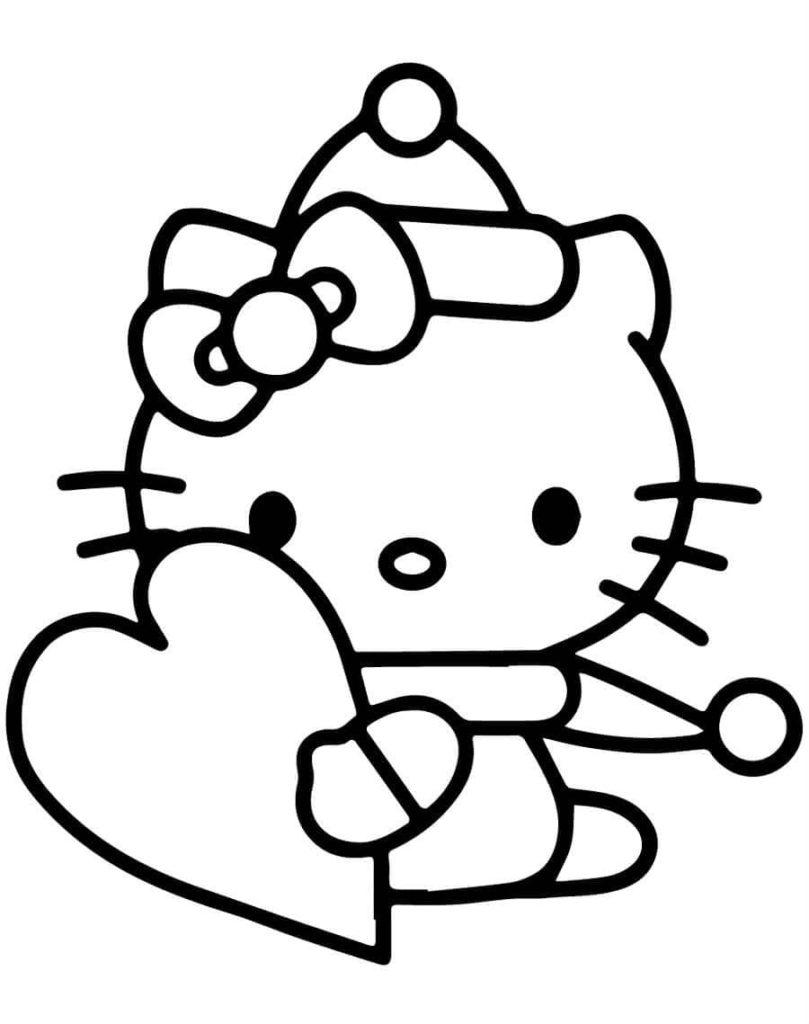 Coloriage Hello Kitty 100 Coloriages Gratuites A Imprimer