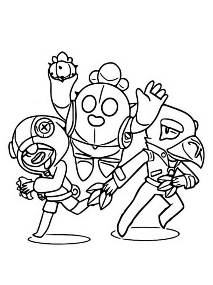Leon Brawl Stars coloring pages. Print for Free | WONDER DAY
