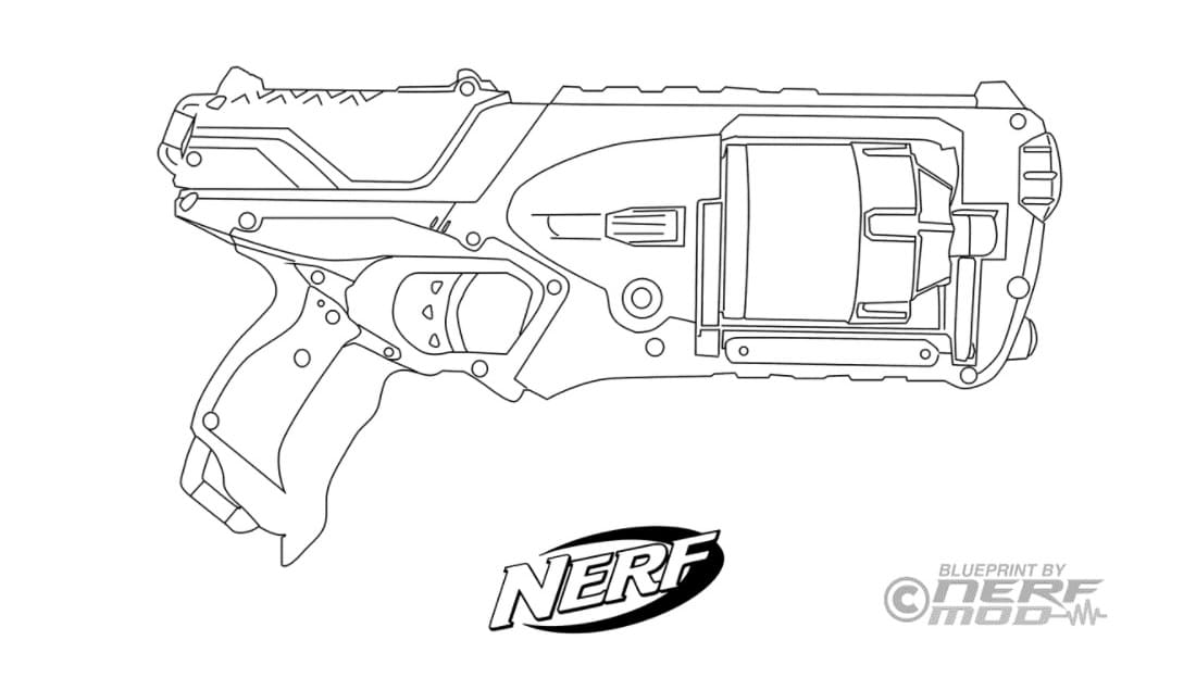 Nerf Guns Coloring Pages. Print For Free WONDER DAY