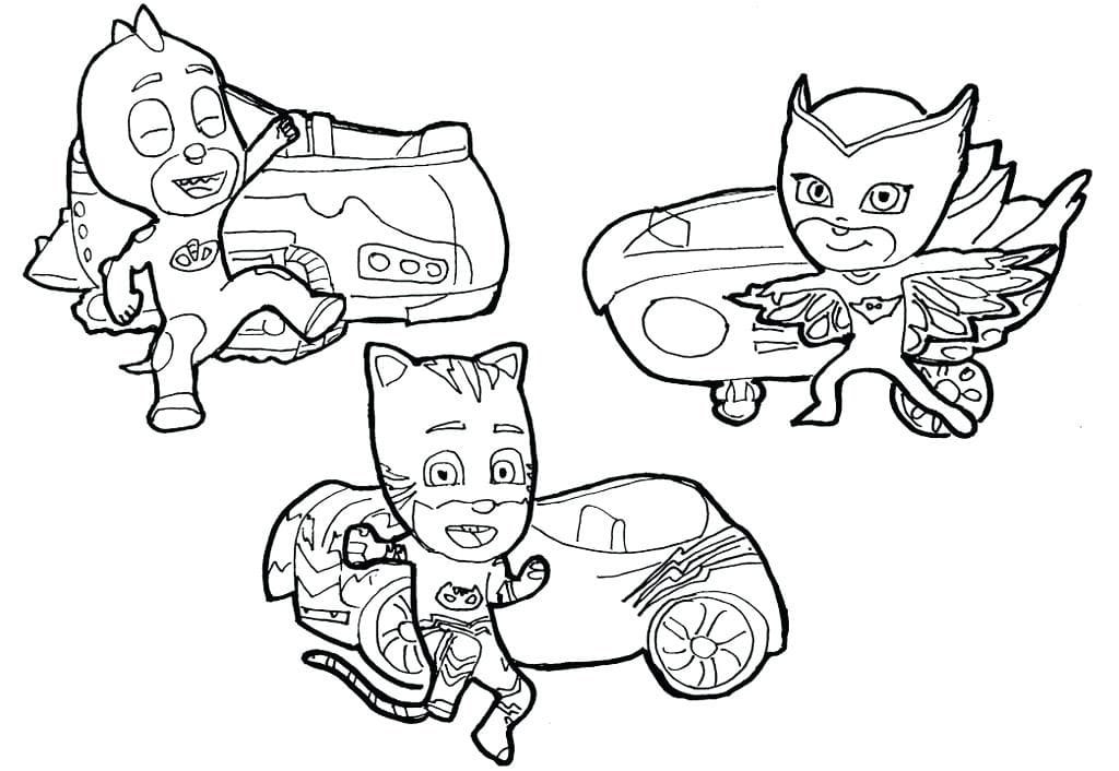 PJ Masks Coloring Pages. Print For Free WONDER DAY