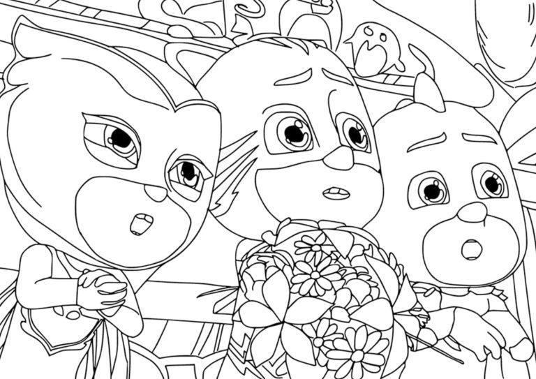 ausmalbilder pj masks — pyjamahelden zum drucken